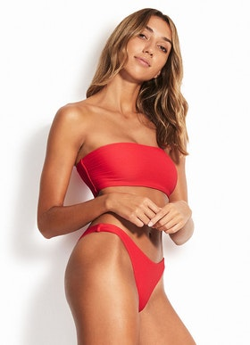 Seafolly Essentials High cut bikini trosor Chilli