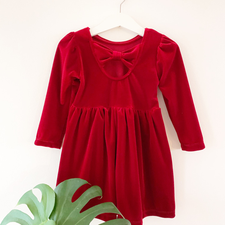 Röd Amelie-klänning