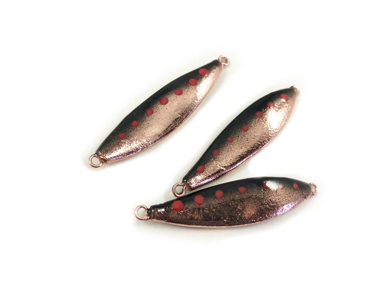 Jämtdraget - Svart/koppar med röda prickar 12gr