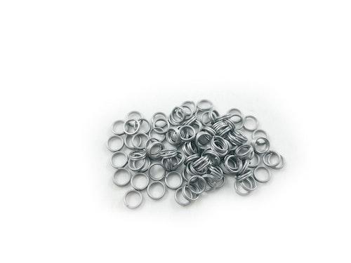 Fjäderringar rostfritt stål-100 st, 6mm