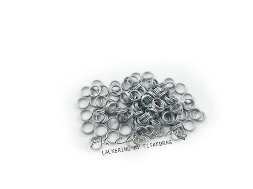 Fjäderringar rostfritt stål -100st, 5mm