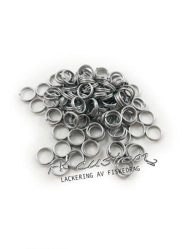 Fjäderringar rostfritt stål-100 st, 8mm