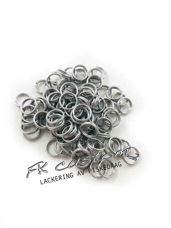 Fjäderringar rostfritt stål-100 st, 10mm