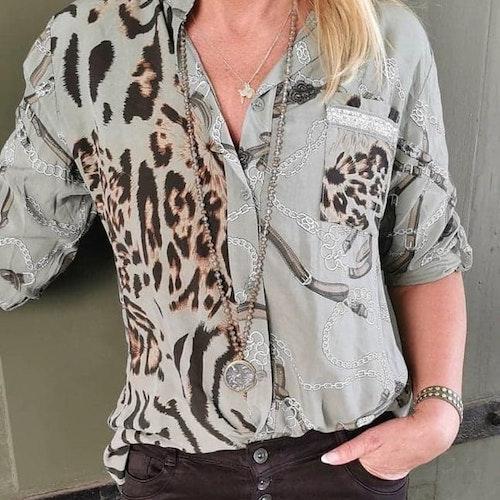 Mönstrad skjorta Färg:Grå