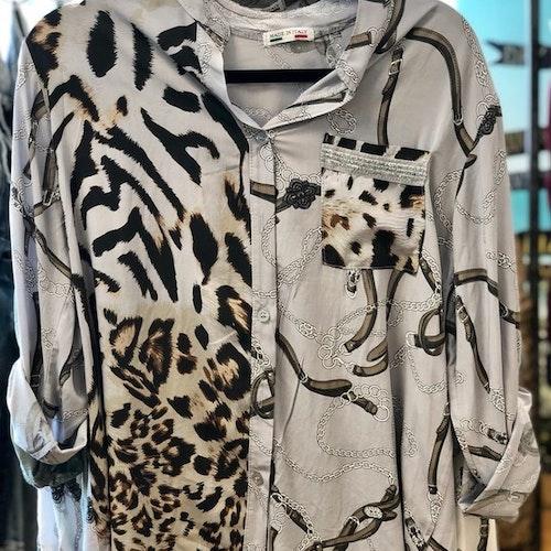 Mönstrad skjorta Färg:Khaki