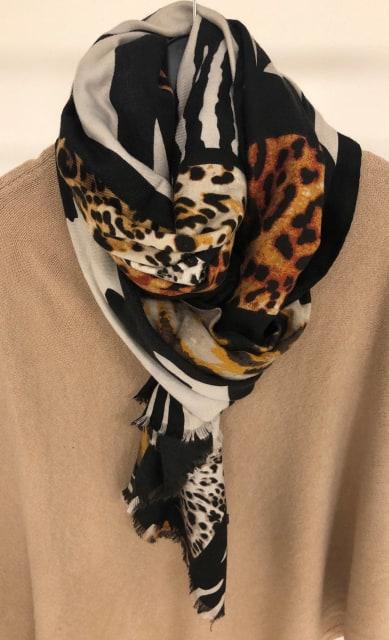 Stor mönstrad scarves