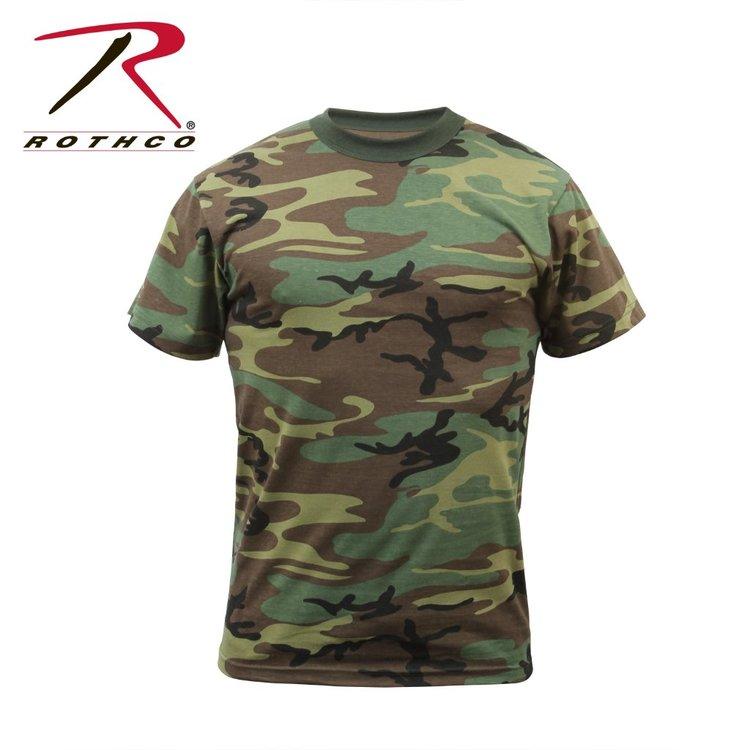 Camo Rothco T-Shirt Woodland