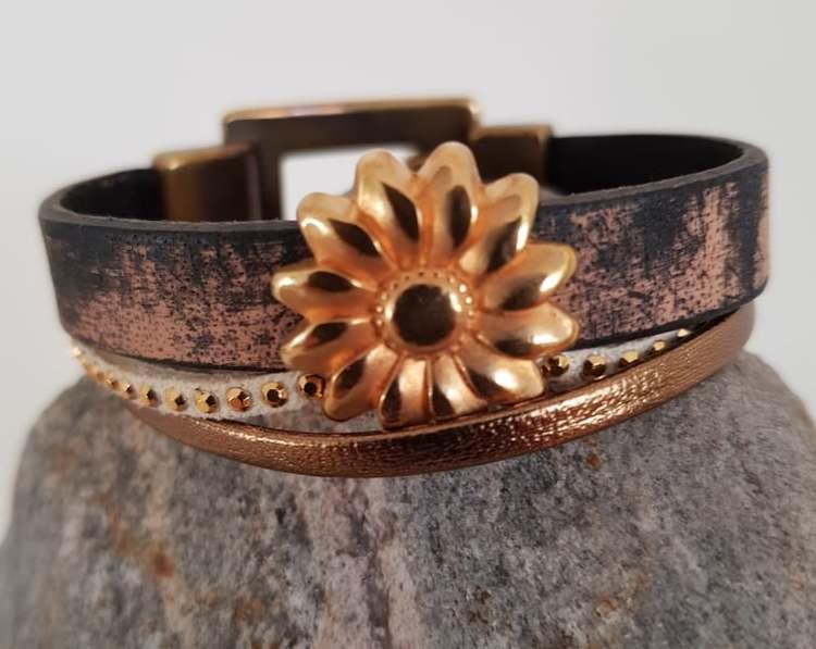 Armband i brunt läder