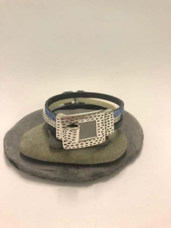 Armband blå/vit