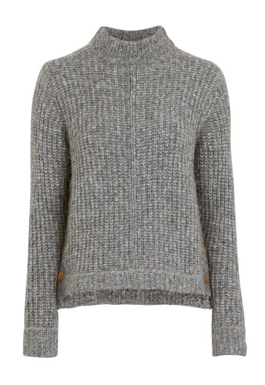 Eliza Button Sweater