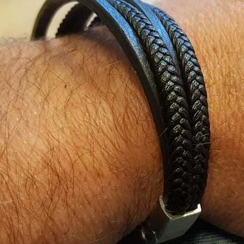 Unisex armband Coal & Honey