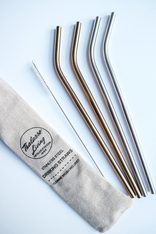 Sugrör i rostfritt stål, 4 varianter
