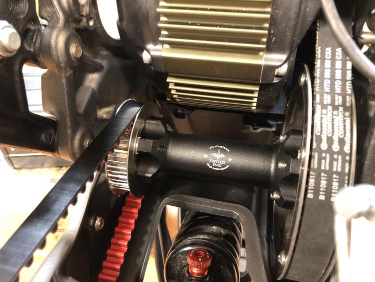 Belt-Kit montering (vid nybeställning av hoj ingår hoj-montering)