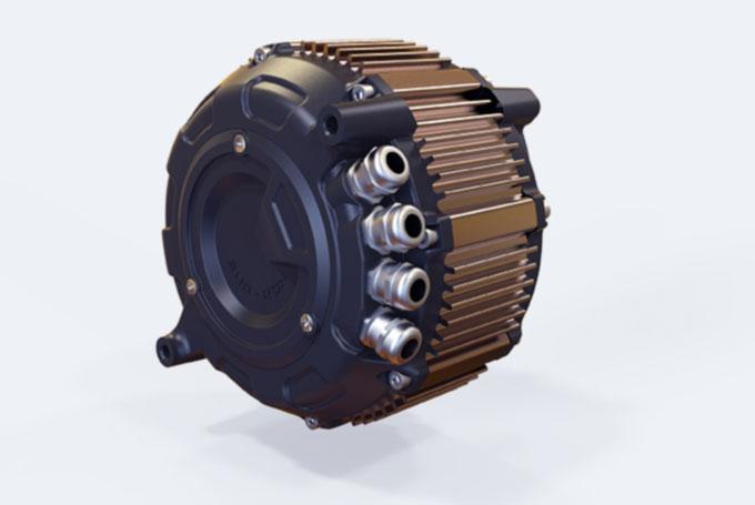Motor med kablar