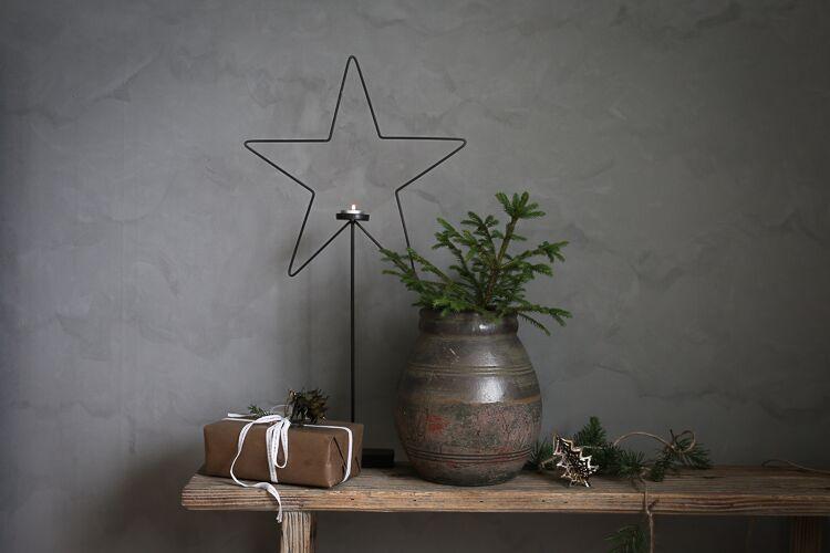 Julstjärna på fot