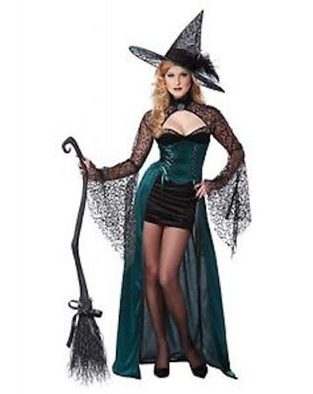 Sexig Förförisk häxa Maskeraddräkt Halloween