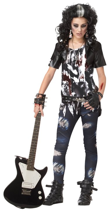 Rock Zombie barn Maskeraddräkt Halloween
