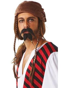 Piratskägg och mustache