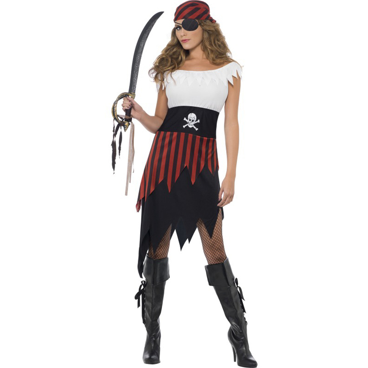 Pirat klänning Maskeraddräkt