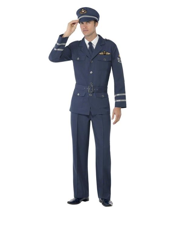 Flygkapten WW2 Maskeraddräkt