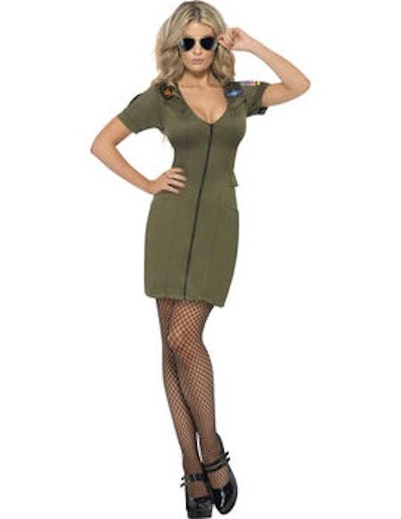 Sexig Top Gun klänning
