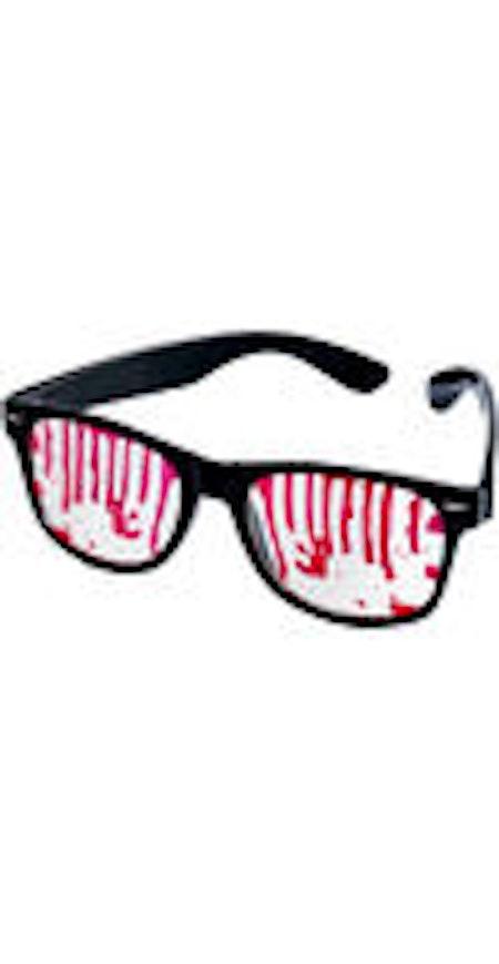 Roliga glasögon blod - svart/röd