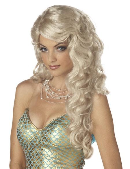 Sjöjungfru Peruk Blond