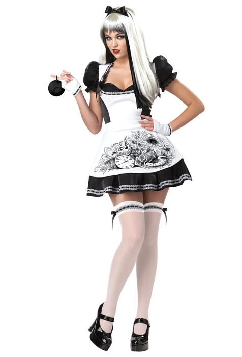 Dark Alice i underlandet Halloween Maskeraddräkt