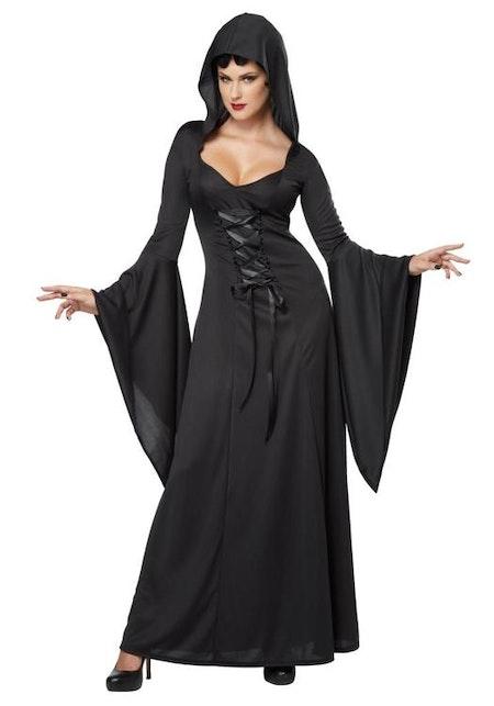 Gothisk brud De Luxe Hooded Robe Maskeraddräkt