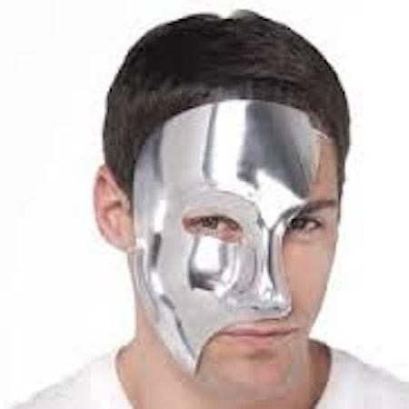 Fantom mask halv silver