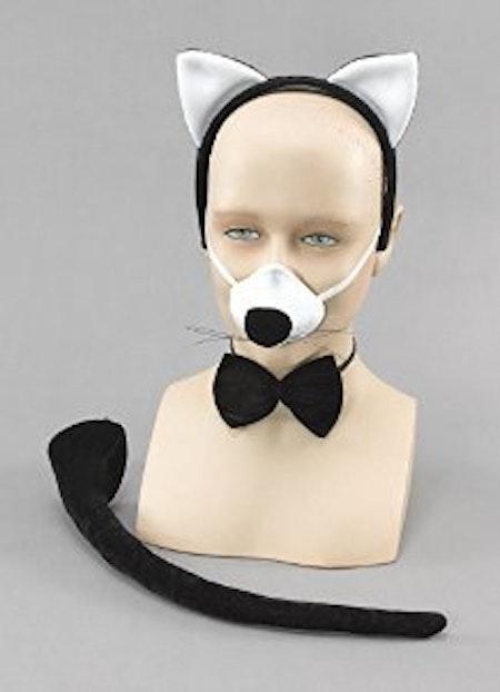 Katt set med ljud som låter vid tryck på nosen Maskerad