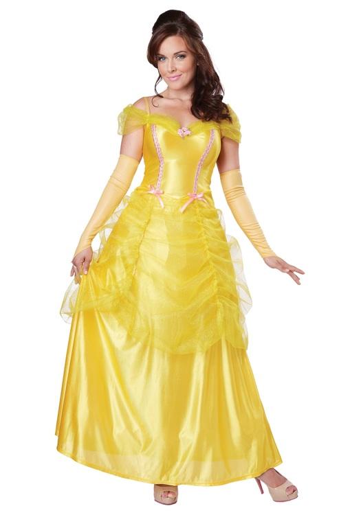 Prinsessans Belle Skönheten och Odjuret Maskeraddräkt