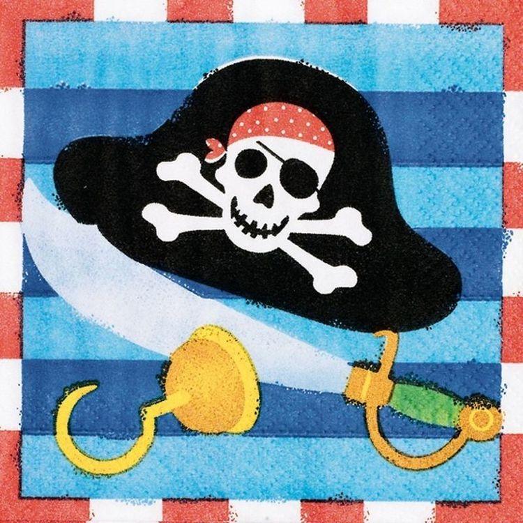 Pirat servetter 16-pack