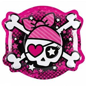 Rosa pirattallrikar 6-pack