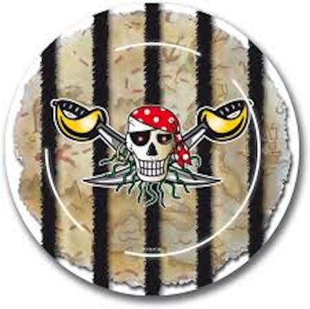 Pirat Sjörövar tallrikar 8-pack