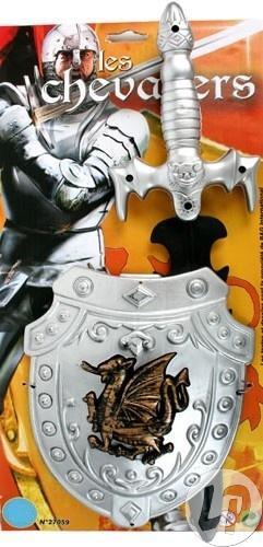 Sköld med svärd