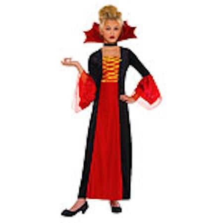 Vampyr prinsessa Gothisk Barn Maskeraddräkt