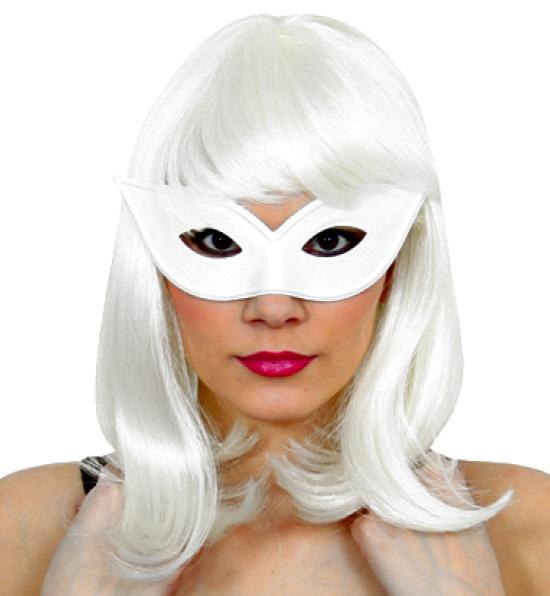 Vit kattögon mask