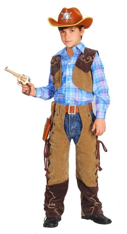 Cowboy med Hatt barn Maskeraddräkt