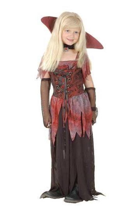 Gotisk vampyr barn Maskeraddräkt
