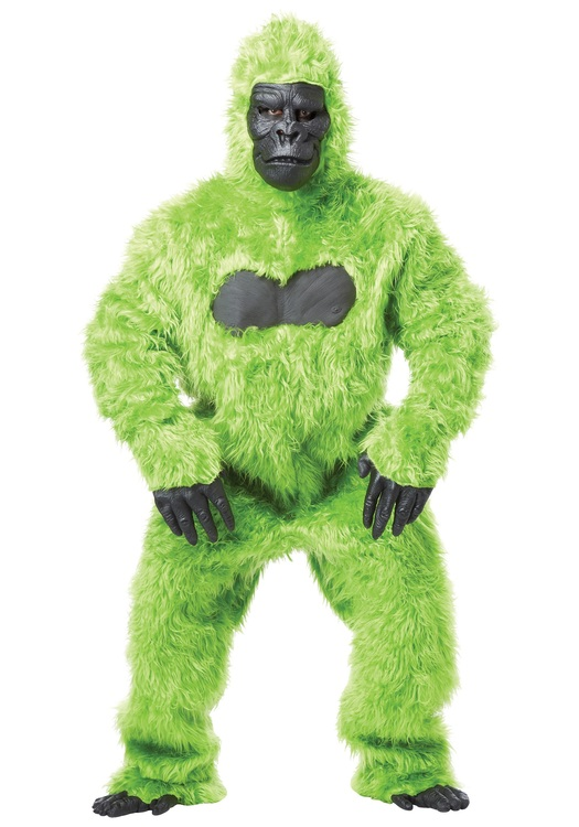Grön Gorilla Maskeraddräkt