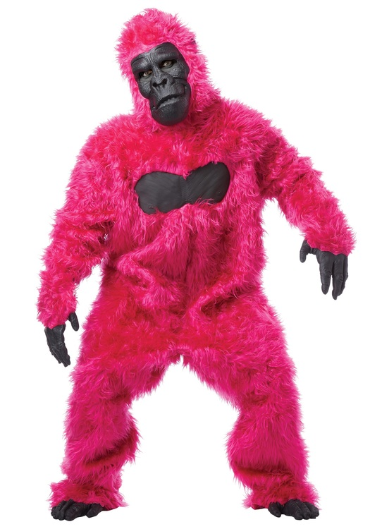 Rosa Gorilla Maskeraddräkt