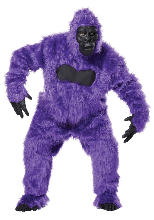 Lila Gorilla Maskeraddräkt