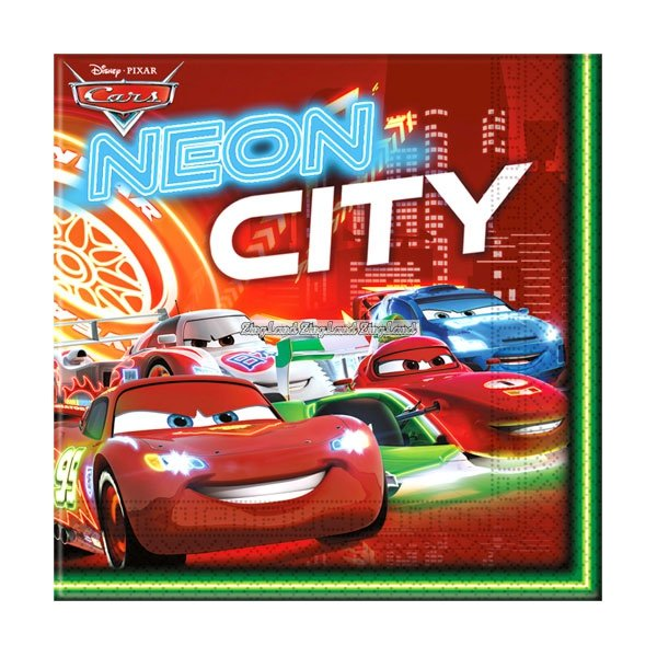 Disney Cars Neon City servetter 20 st