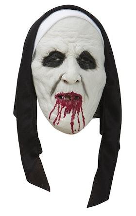 Läskig nunna ansiktsmask Halloween