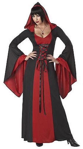 Gothisk klänning röd