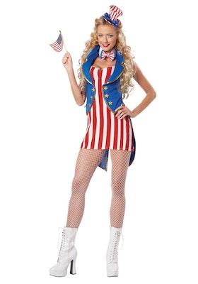 Amerikanska flaggan klänning