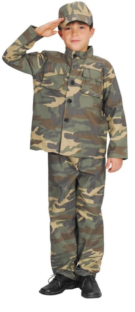 Militärdräkt Arme Barn Maskeraddräkt