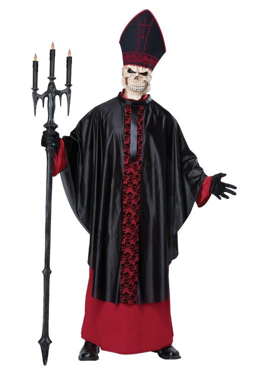 Påve Skelett Skräck Maskeraddräkt Halloween