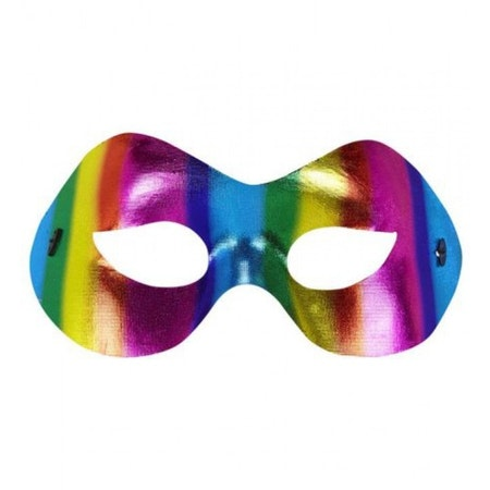 Ögonmask multifärgad Maskerad Pride